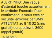 Attention à ALERT INFO, l'arnaque SMS qui surfe sur les attentats