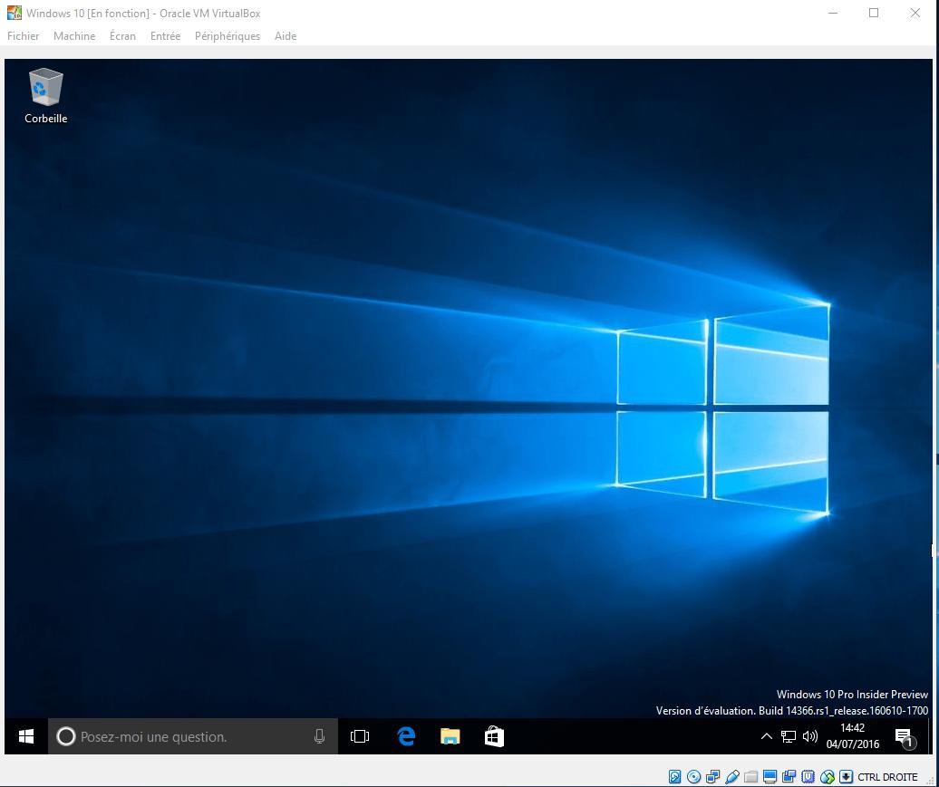 Comment tester Windows 10 Anniversary sans l'installer sur son PC ?