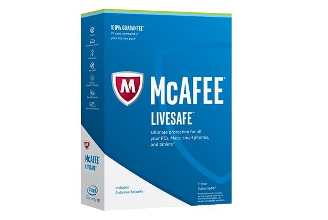 Test antivirus : McAfee LiveSafe 2017