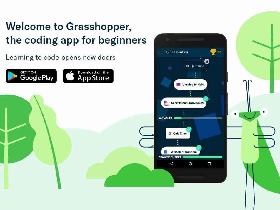 Grasshopper : Et si vous appreniez à coder en jouant sur votre smarphone ?