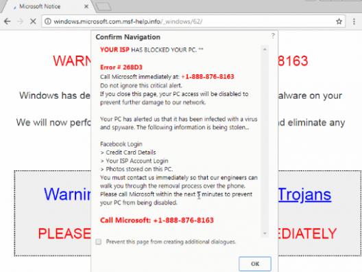 Les sites frauduleux exploitent un ancien bug présent dans votre navigateur pour bloquer votre PC