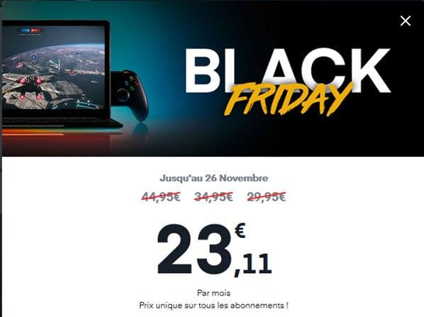 Pour le Black Friday, l'abonnement Shadow passe à 23,11 euros par mois !