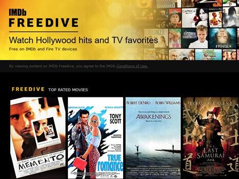 Freedive : Amazon lance son Netflix gratuit via IMDB