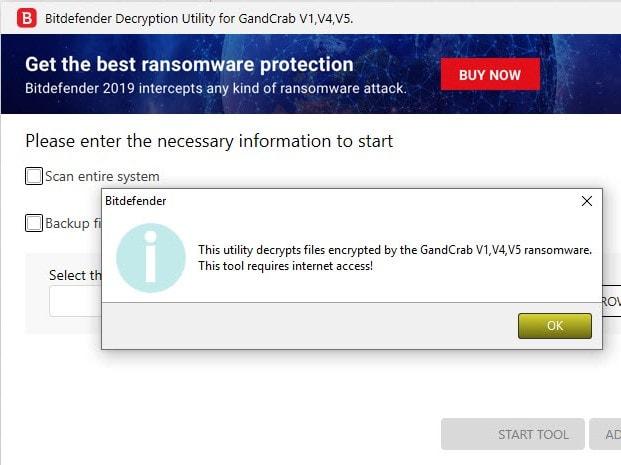 Bitdefender publie son outil de déchiffrement pour la version 5.1 du ransomware GandCrab