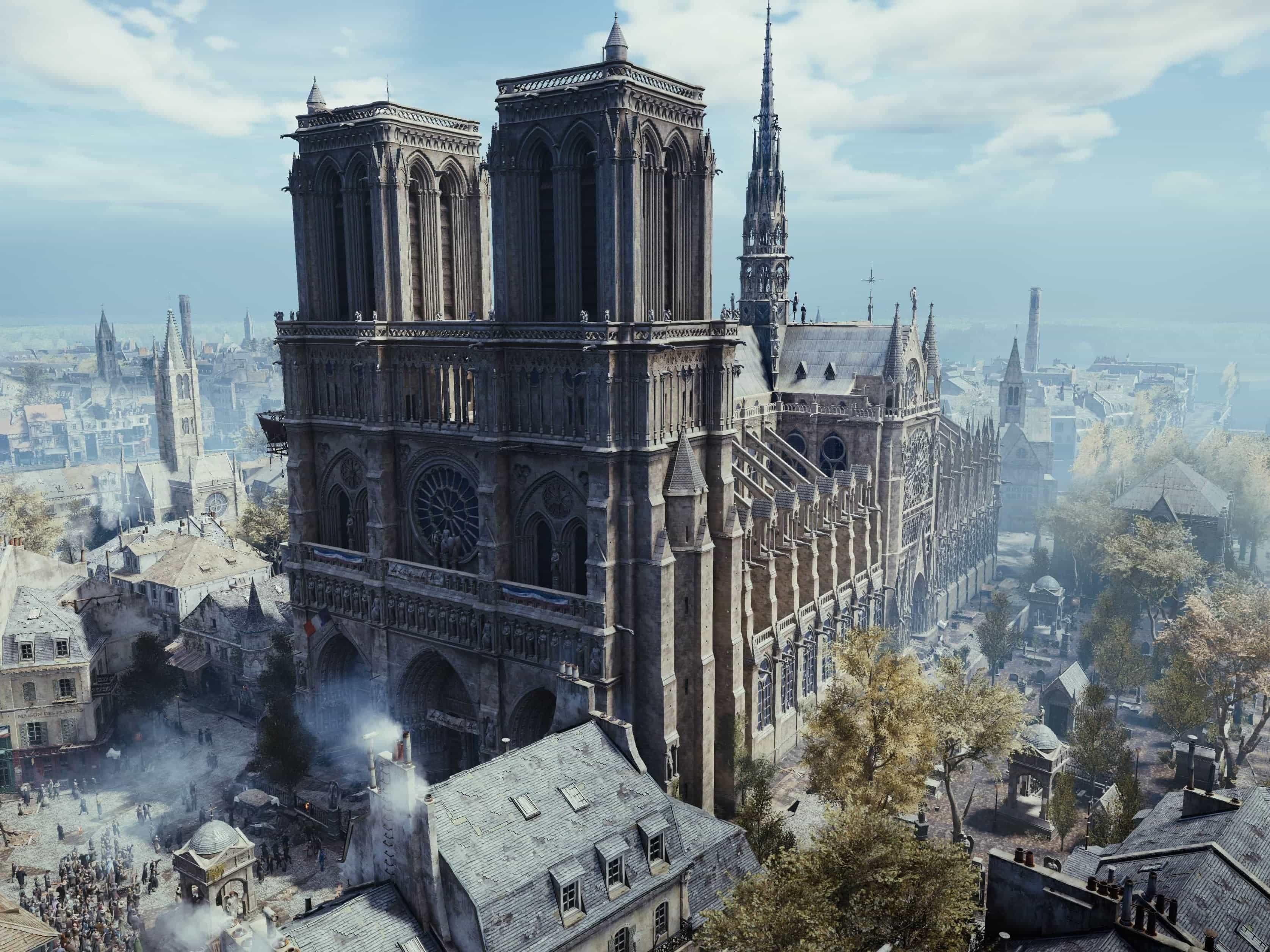 Notre-Dame de Paris : Ubisoft offre AC Unity aux joueurs et 500 000 euros de dons