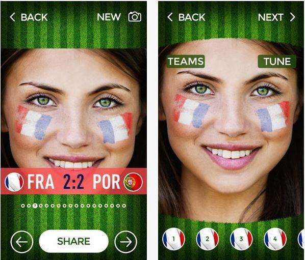 Supportez votre équipe favorite pendant la Coupe du Monde de foot avec Flag Face