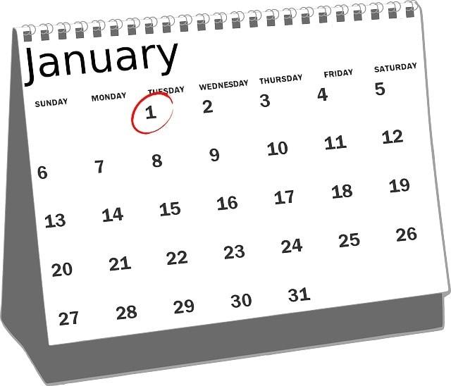 Les 5 calendriers indispensables de l'année 2015/2016