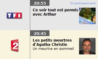 Les programmes TV du jour