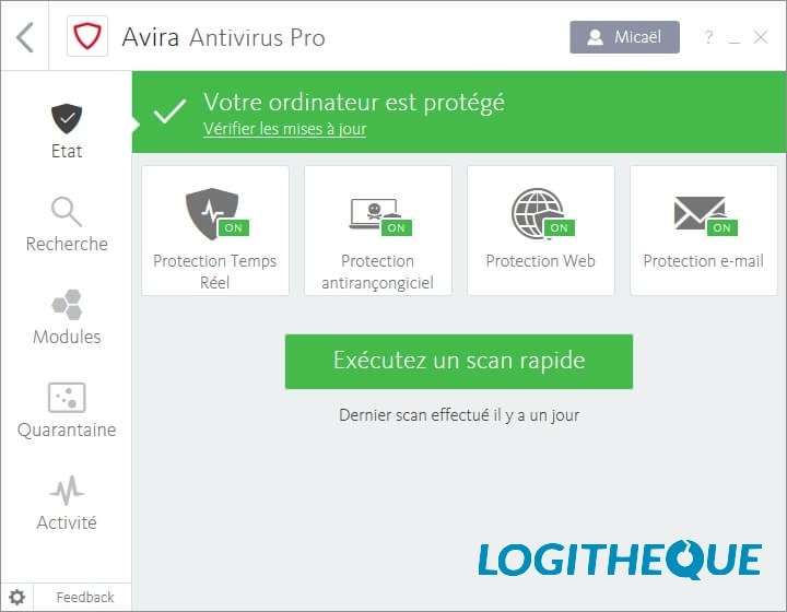 Test antivirus : Avira Internet Security Suite 2019