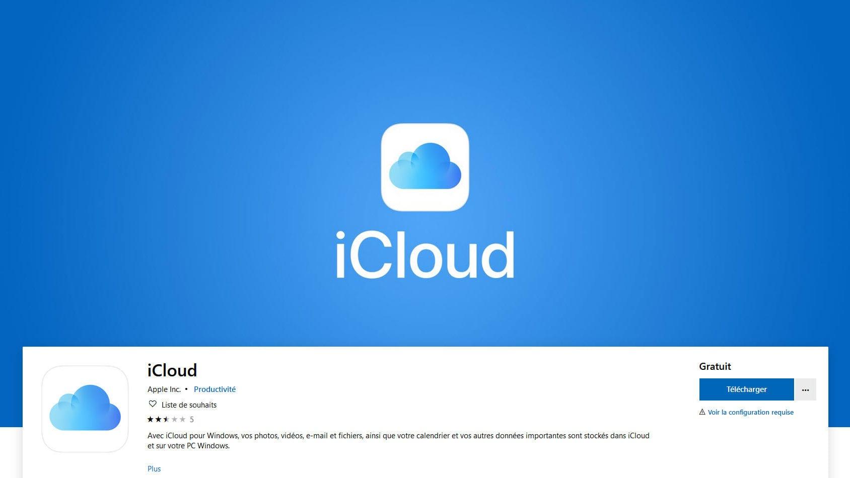 Windows 10 : Il est désormais possible de télécharger iCloud depuis le Microsoft Store