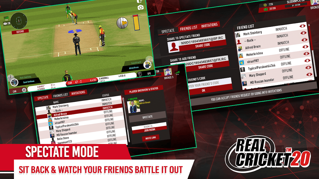 Real Cricket 20 : Comment utiliser le Spectate Mode ?