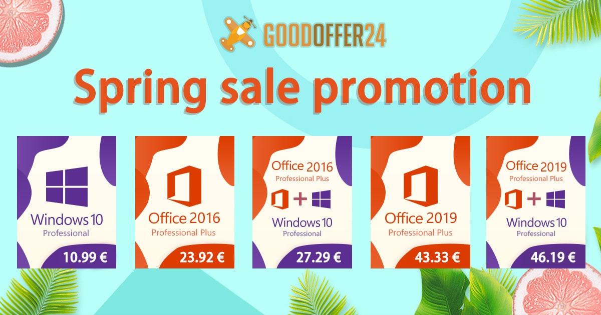 Springsale : des clés Windows 10 Pro à 10.99€ et Office 365 à 13.99€