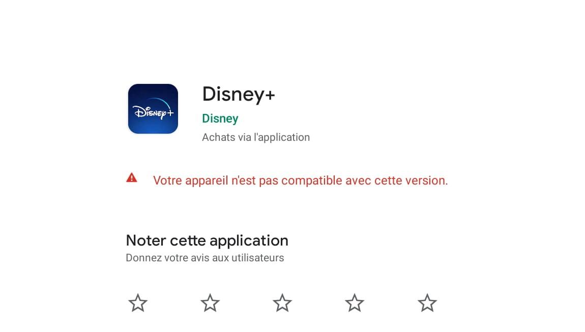 Disney+ : votre appareil n'est pas compatible avec cette version ?