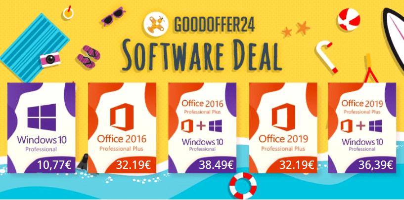 Obtenez Windows 10 à 10 € et Office 2019 à 32 €
