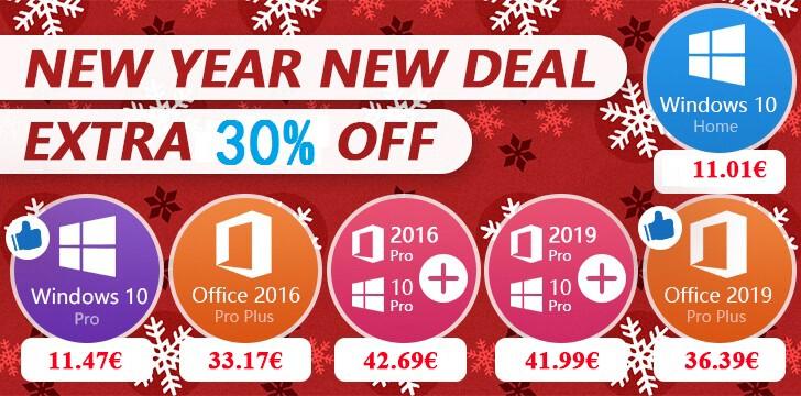 Offre du Nouvel An : des clés Windows 10 Pro à 11 € !