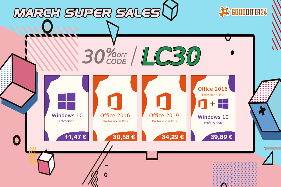Promotions chez Goodoffer24 : Windows 10 à 11,01 €