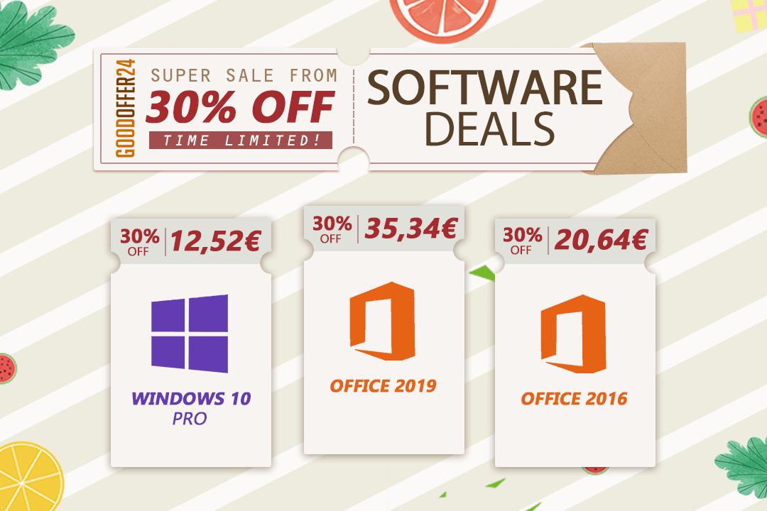 Promo d'été : Obtenez Windows 10 pour 12 €, Office 2016 à 20 € seulement ...