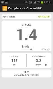 Capture d'écran Compteur de vitesse PRO
