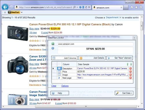 Capture d'écran Web Data Extraction Software DataToolbar
