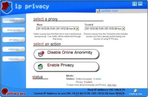 Capture d'écran IP Privacy