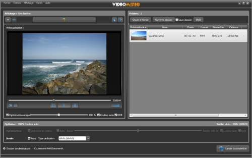 Capture d'écran Vidéo  Optimizer