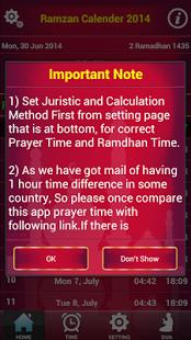 Capture d'écran Ramdhan 2014 et Prayertime