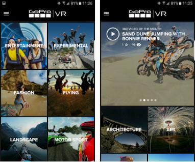 Capture d'écran GoPro VR iOS