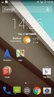 Capture d'écran Navigation Shortcut