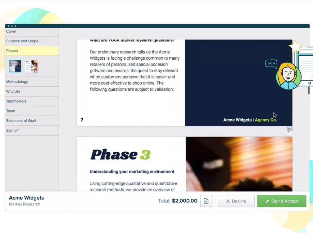 Capture d'écran Proposify