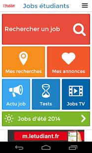 Capture d'écran Jobs pour étudiants Android