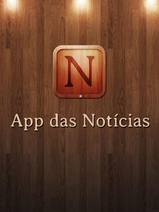 Capture d'écran App das Notícias