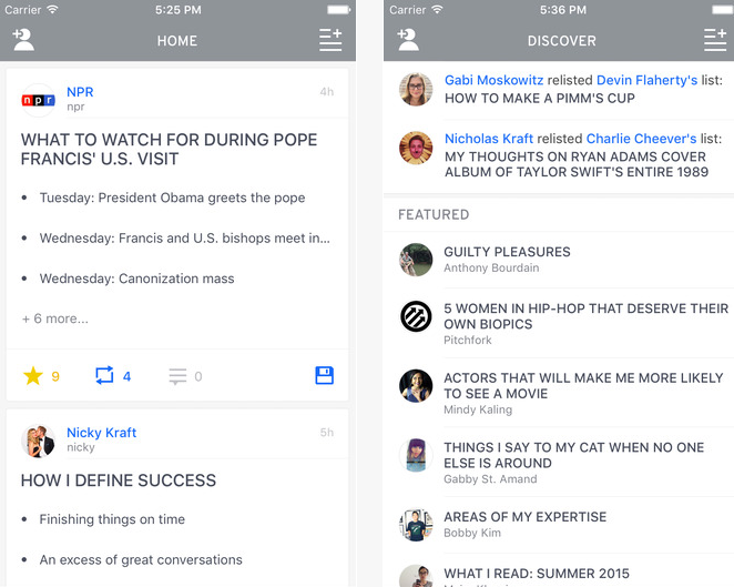 Capture d'écran The List App iOS