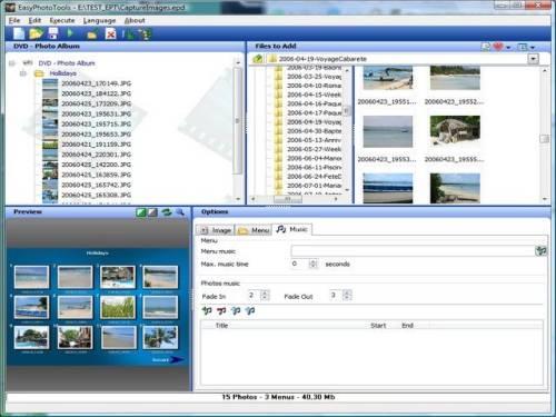 Capture d'écran EasyPhototools
