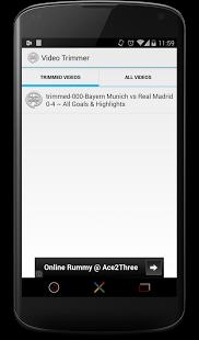 Capture d'écran Video Trimmer-Cutter (gratuit)