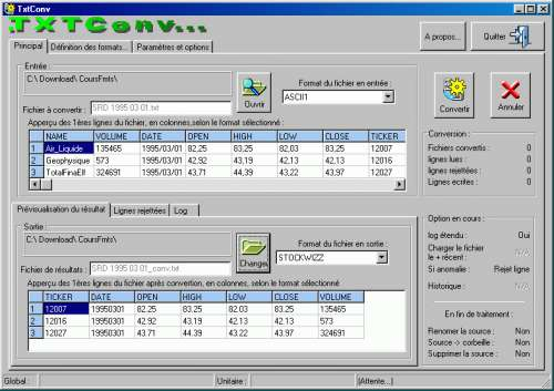 Capture d'écran TxtConv.exe
