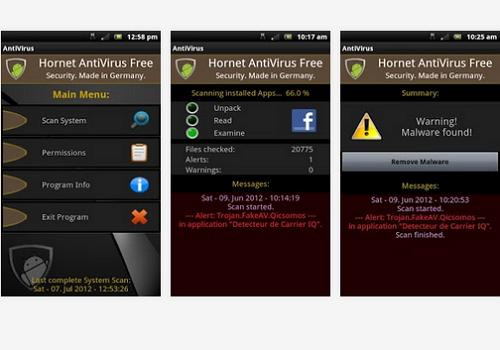 Capture d'écran Hornet Antivirus Free Android