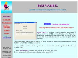 Capture d'écran Suivi R.A.S.E.D.