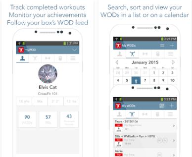 Capture d'écran myWOD Android