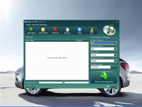 Capture d'écran WAV To MP3