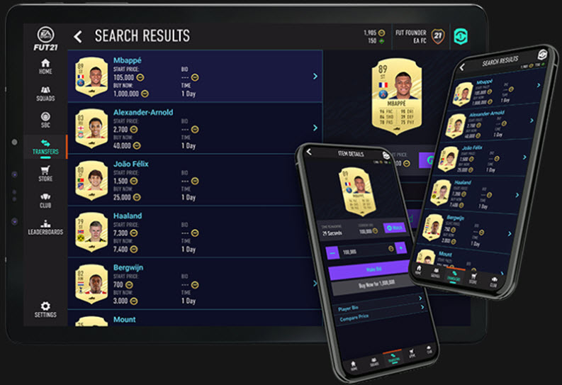 Capture d'écran FIFA 21 Companion iOS