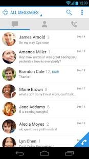 Capture d'écran Messages   SMS