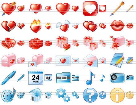 Capture d'écran Delicious Love Icons