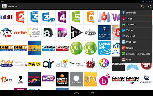 Capture d'écran France TV Android
