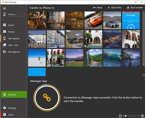 Capture d'écran iDevice Manager