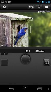 Capture d'écran EOS Remote