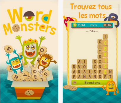 Capture d'écran Word Monsters iOS