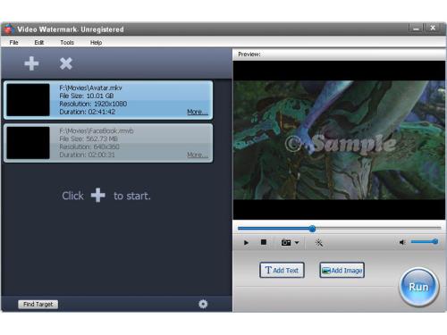 Capture d'écran Video Watermark