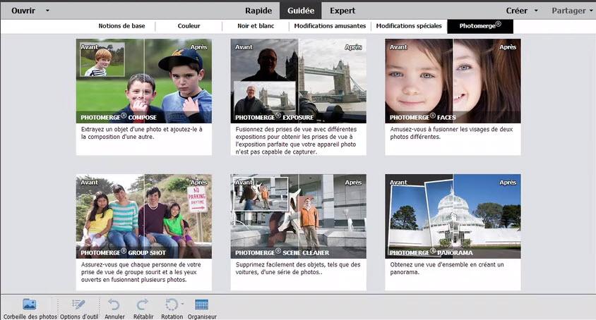 Capture d'écran Adobe Photoshop Elements 2021 Mac