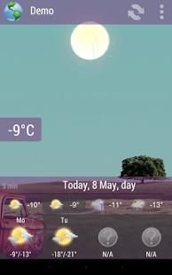 Capture d'écran Animated Weather Widget, Clock