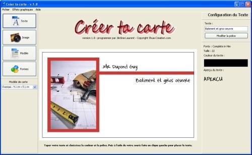 Capture d'écran Créer ta carte